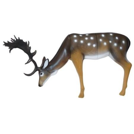 3-D Fallow Deer, eating