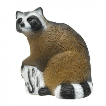 3-D Raccoon, sitting