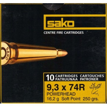 SAKO 9.3x74R POWERHEAD 477D  250 16,2 / 10pcs