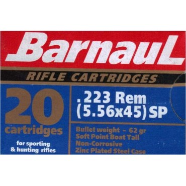 Barnaul 223 Soft Point  / 20 pcs box