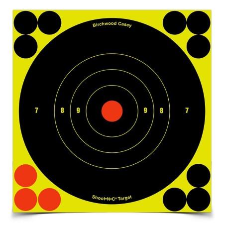 "Ampumataulu Shoot N C Bullseye 8\""/20cm 6kpl pakkaus"
