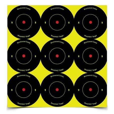 "Ampumataulu Shoot N C Bullseye Spots 2\""/5cm 108kpl pakkaus"