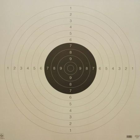 "Ampumataulu, Tarkka pistoolitaulu \""koulutaulu\"" 55*55cm"