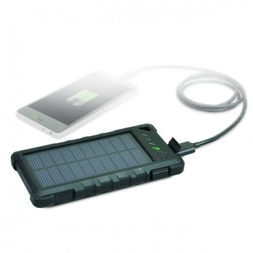 Lisävirta-akku Power Bank Solar panel 8000mA