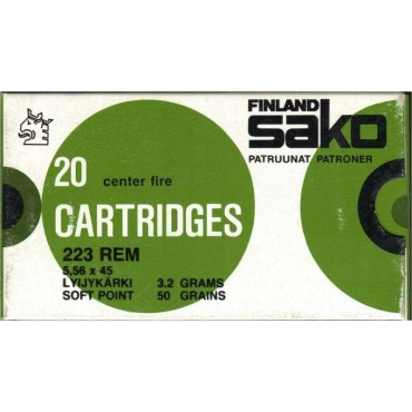 Sako 223 Soft Point 3,2g /106G / 20 kpl